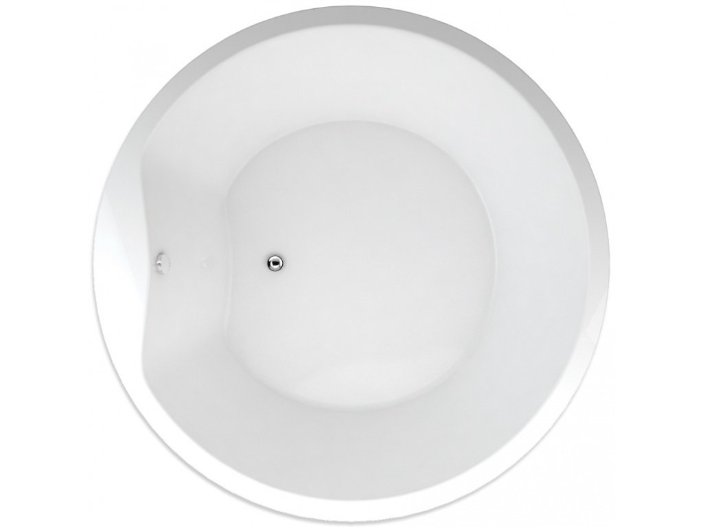 TEIKO Vana Space 175 kruhová 175 cm, akrylátová, bílá SPACE175 V115175N04T01001-SPACE175  Nohy zdarma