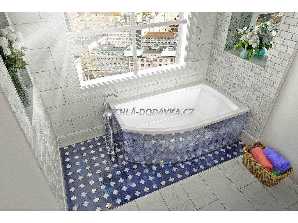 TEIKO Vana Thera new 160 x 98 cm rohová, akrylátová, bílá, pravá V110160R04T12001  Nohy zdarma