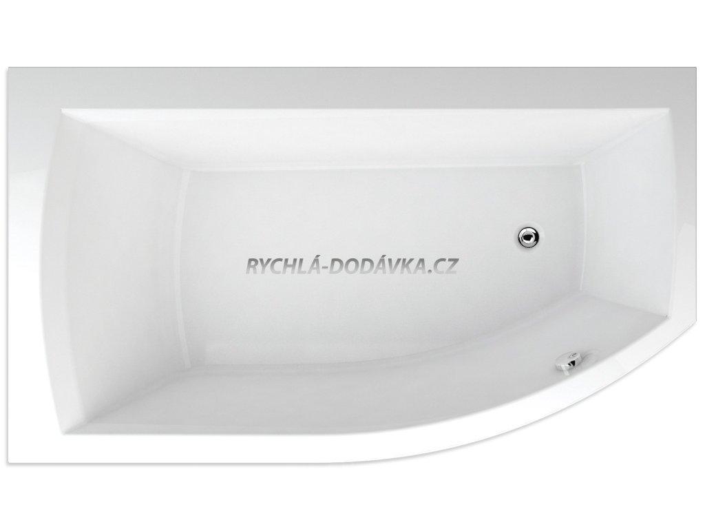 Teiko Thera New vana akrylátová 170 x 98 cm levá, bílá včetně nohou V110170L04T03001  Nohy zdarma