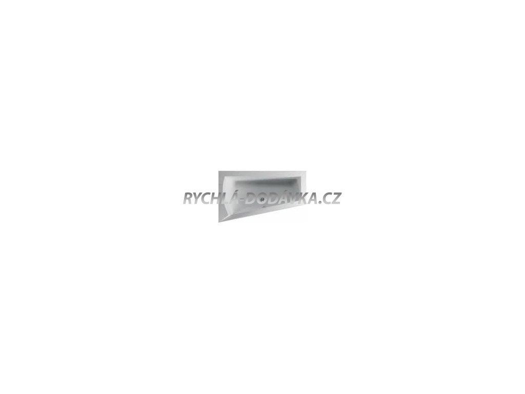 TEIKO Vana NERA 170 L asymetrická 170 x 100 cm - HTP systém DUO LIGHT levá V210170L04T02061