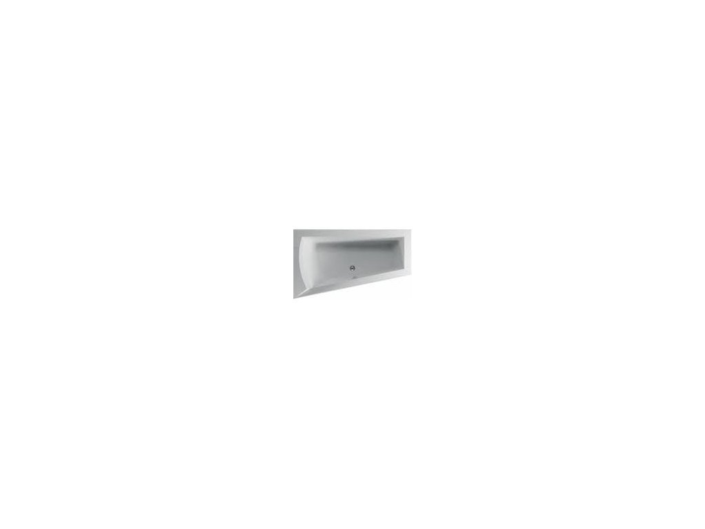 TEIKO Vana NERA 170 L asymetrická 170 x 100 cm - HTP systém BASIC levá V210170L04T02011