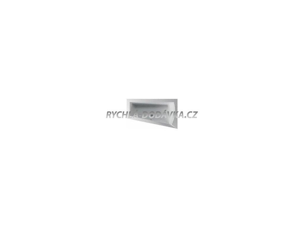 TEIKO Vana NERA 170 P asymetrická 170 x 100 cm - HTP systém DUO LIGHT pravá V210170R04T02061