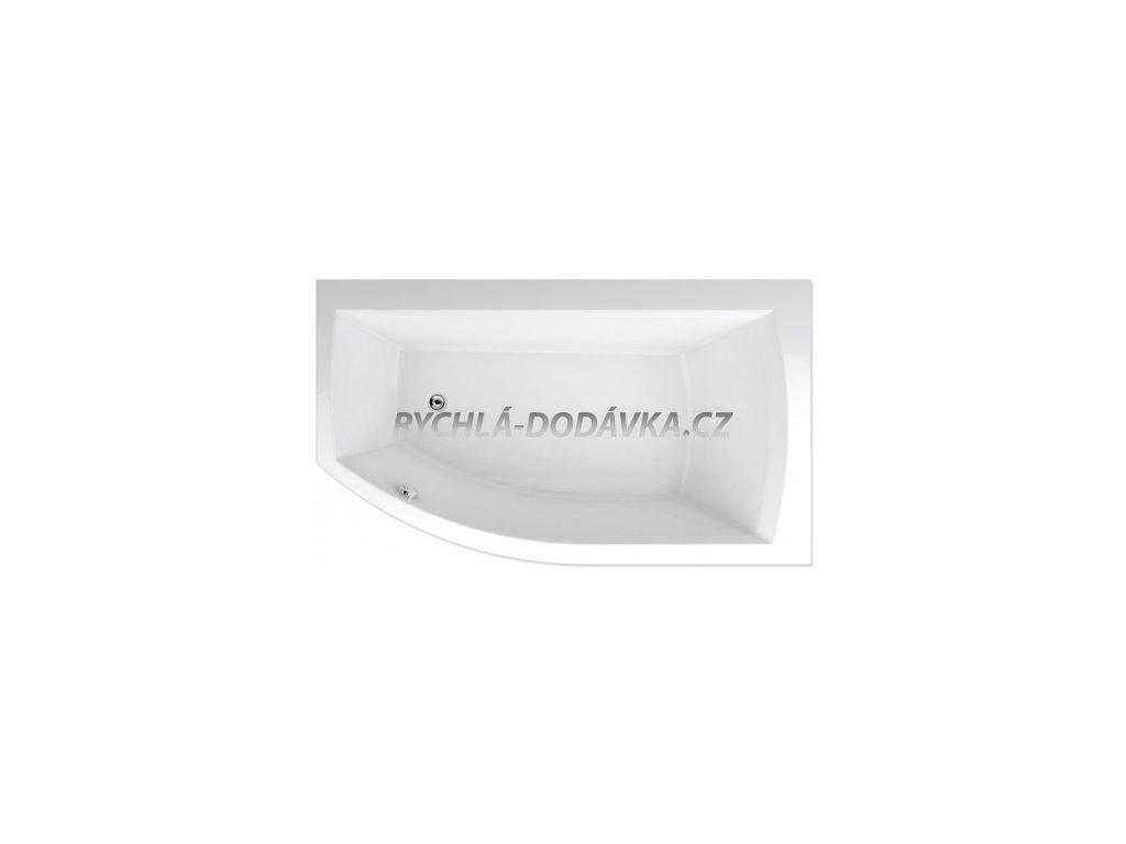TEIKO Vana Thera new 160 x 98 cm rohová, akrylátová, bílá, pravá Basic V110160L04T12001