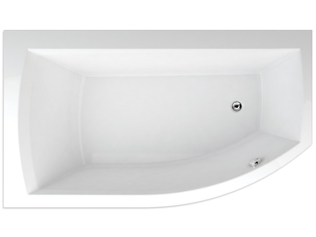 TEIKO Vana Thera new 160 x 98 cm rohová, akrylátová, bílá, levá Basic V210160L04T12011