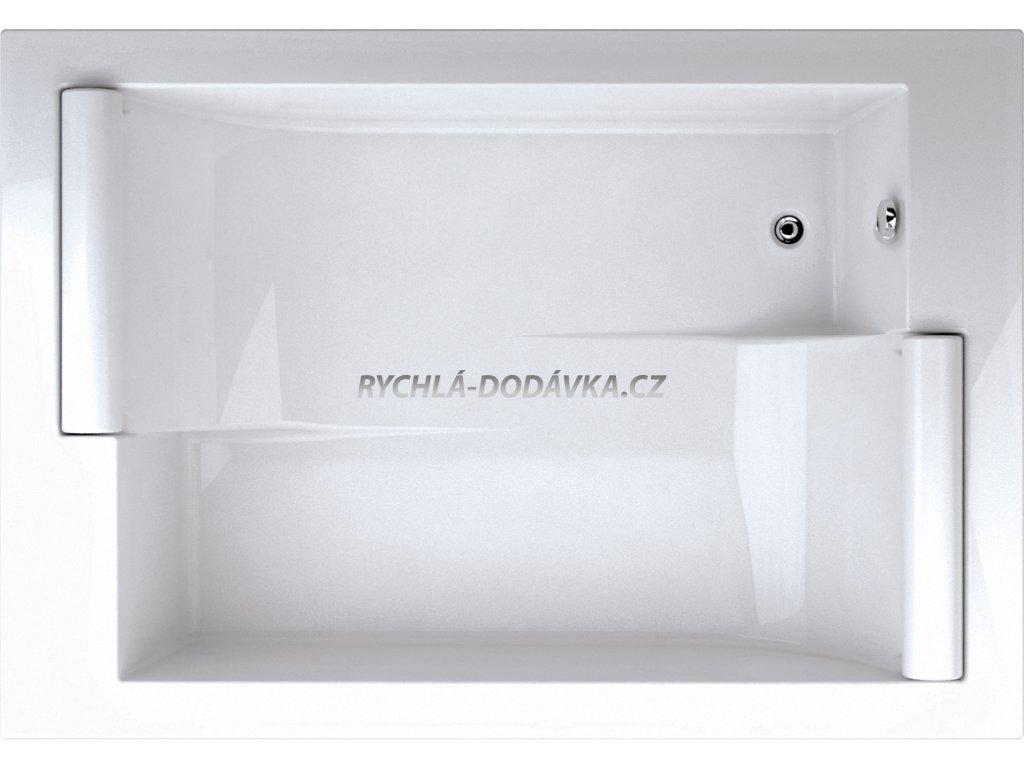 TEIKO Asteria vana 186 x 88 x 57 cm, akrylátová, bílá V112195N04T01001-Asteria  Nohy zdarma