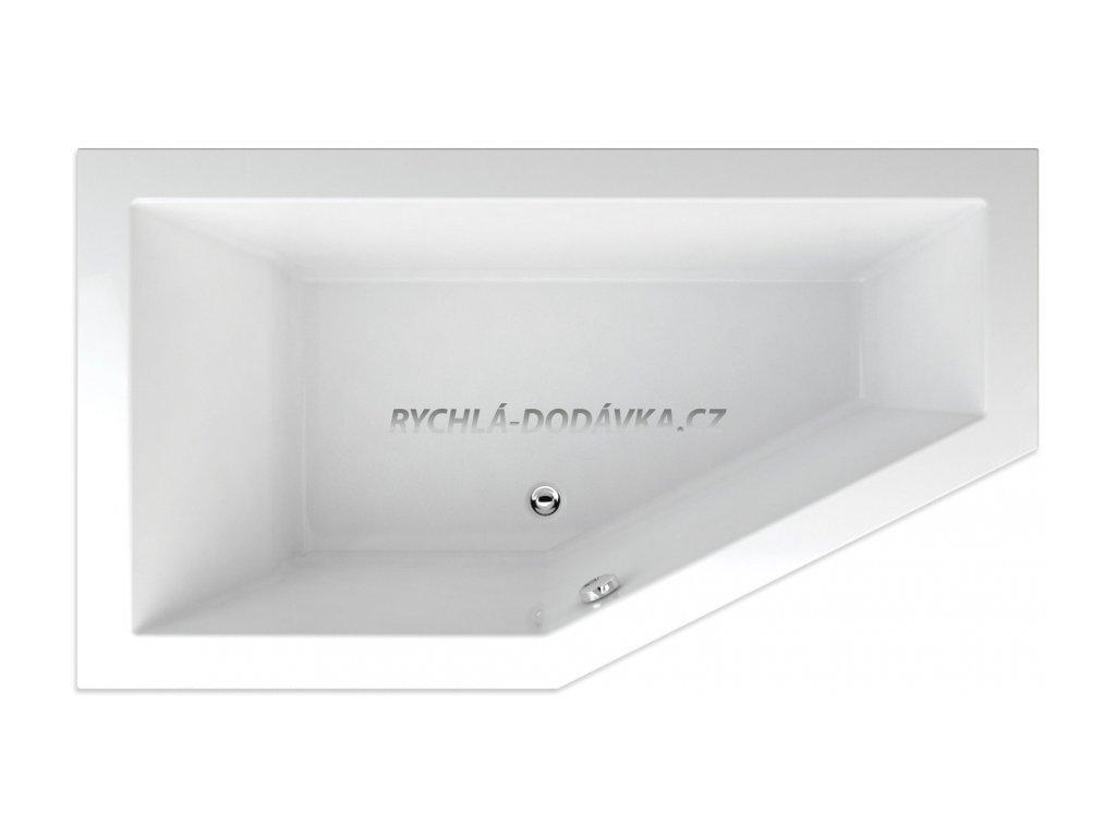 TEIKO Vana Lagos 170 x 90 cm, rohová, akrylátová, levá, bílá V117170L04T02001  Nohy zdarma
