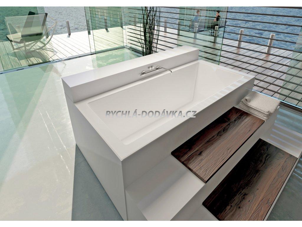 TEIKO Varadero vana 170 x 75 x 49,5 cm, akrylátová, bílá V112170N04T13001  Nohy zdarma