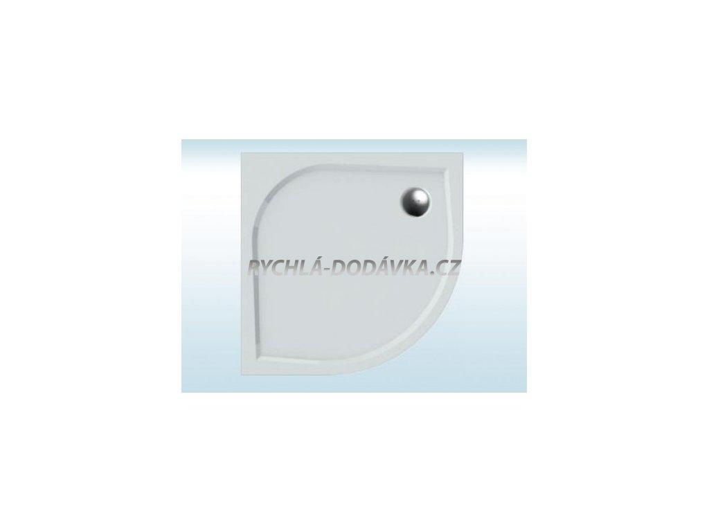 Teiko sprchová vanička Virgo 80 x 80 cm R55 litý mramor-virgo80