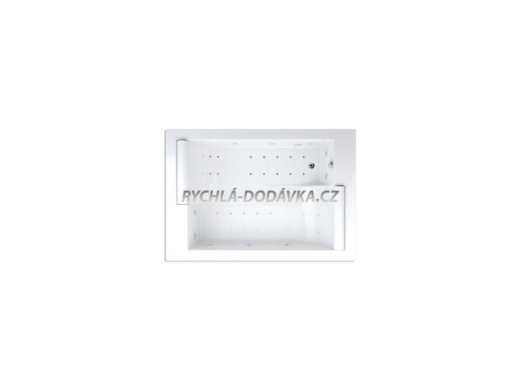Teiko hydromasážní vana ASTERIA DUO LIGHT 195 x 135 x 46 cm 495 l 195 cm bílá