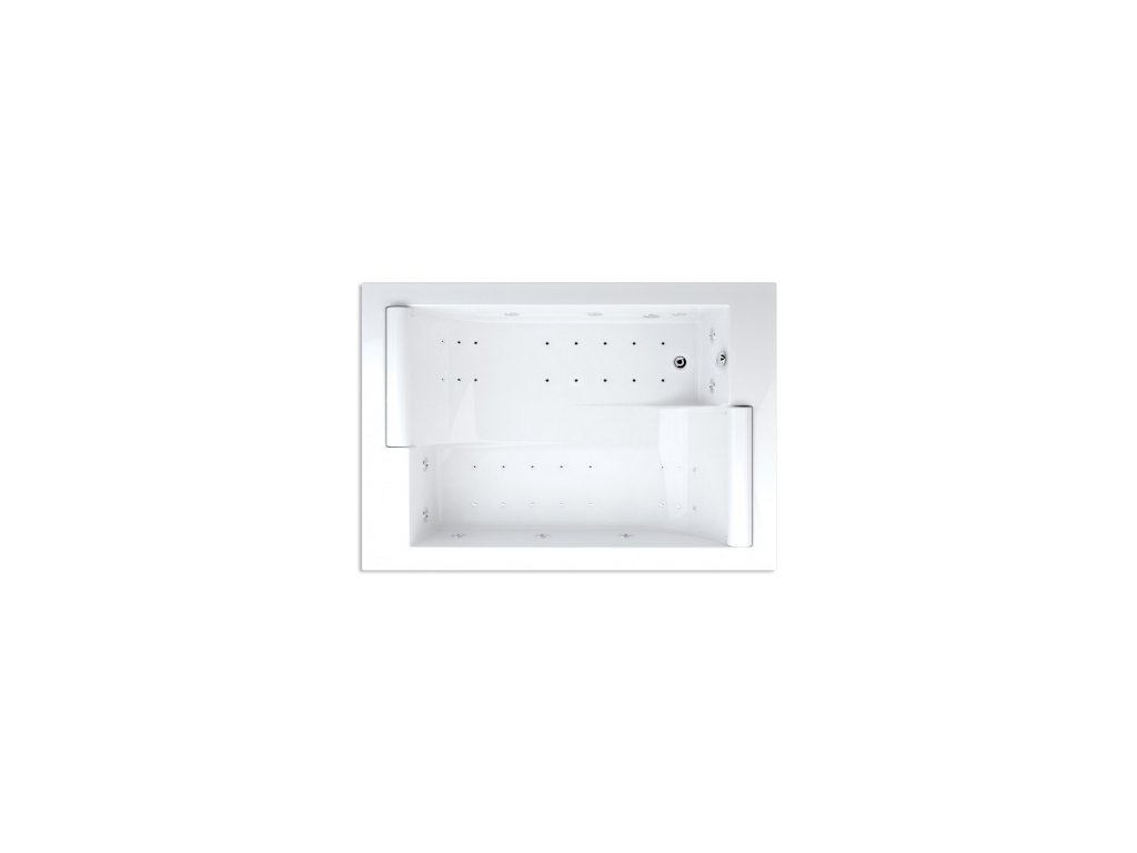 Teiko hydromasážní vana ASTERIA WINDY 195 x 135 x 46 cm 495 l 195 cm bílá