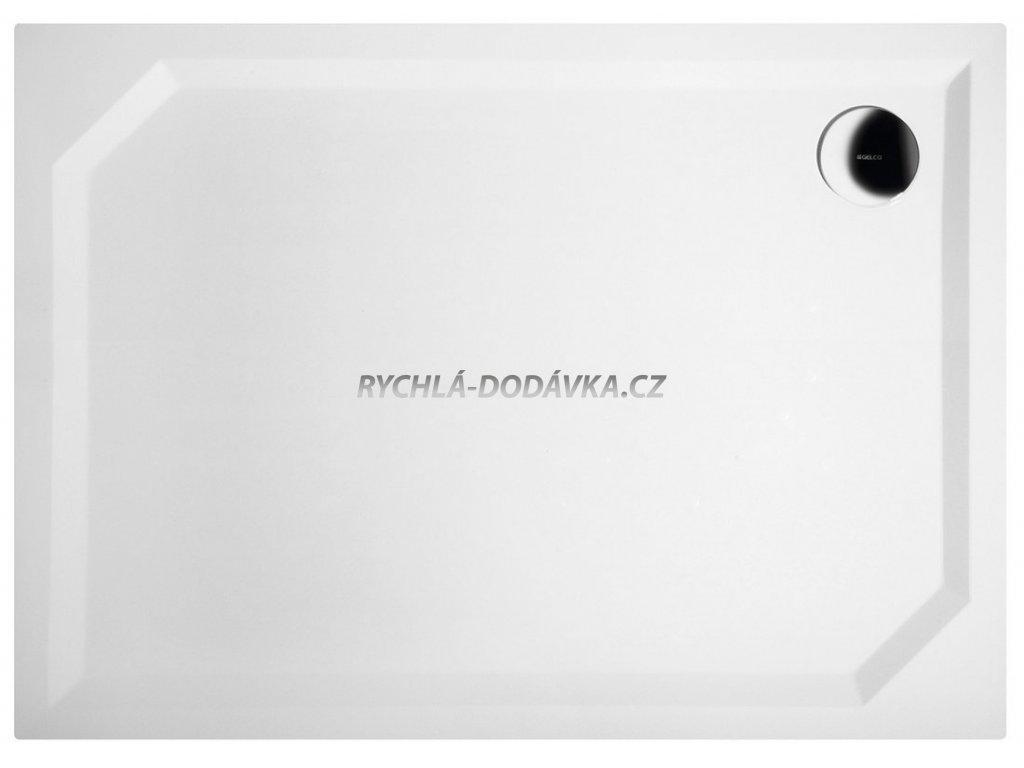 Gelco SARA sprchová vanička z litého mramoru, obdélník 110x80x4cm, hladká HS11080