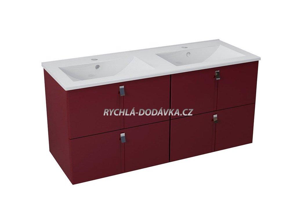 Sapho MITRA umyvadlová skříňka s umyvadlem 150x55x46 cm, bordó 2XMT0731601-150