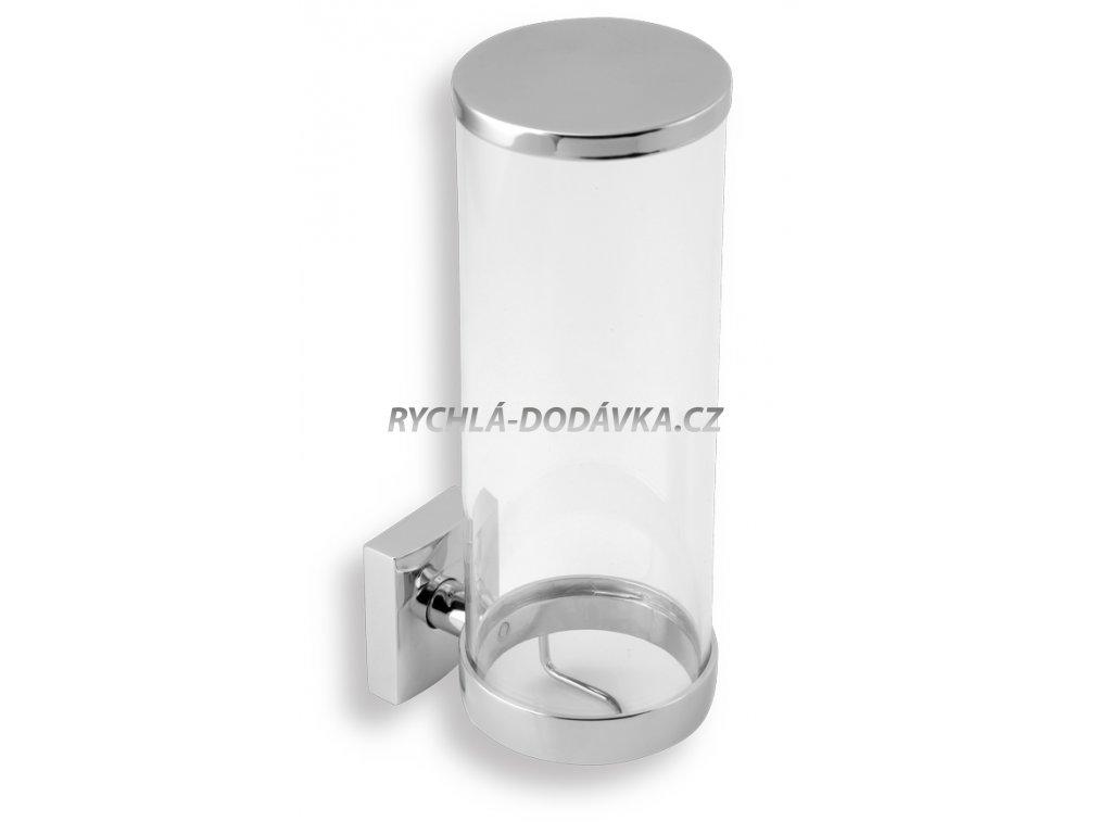 Novaservis Zásobník na kosmetické tampony sklo Metalia 12 chrom 0272,0