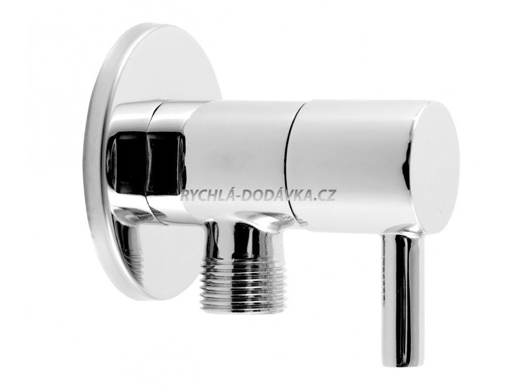 Novaservis Rohový ventil keramický s krytkou a kovovou pákou 1/2x3/8 CF3012/10