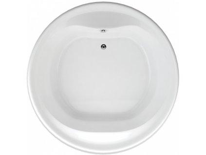 TEIKO Vana Borneo - O kruhová 160 cm, akrylátová, bílá V115160N04T01001-VVO0201  Nohy zdarma