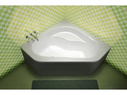 TEIKO Vana Capri rohová 135x135 cm, akrytálová, bílá V111135N04T03001-VVR4001  Nohy zdarma