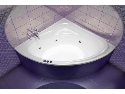 TEIKO Vana Sumatra rohová 150x150 cm, akrylátová, bílá V111150N04T01001  Nohy zdarma