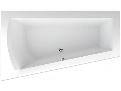 TEIKO Vana Nera 170 L asymetrická 170 x 100 cm, akrylátová, bílá, levá V110170L04T02001  Nohy zdarma