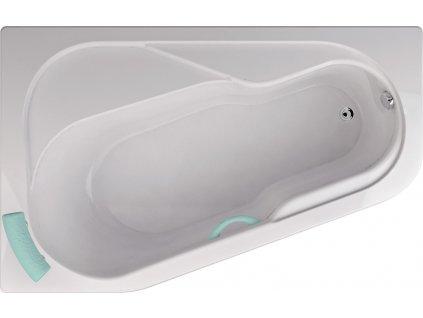 TEIKO Vana Bodam L rohová 160 x 100 cm, akrylátová, bílá, levá V110160L04T01001  Nohy zdarma