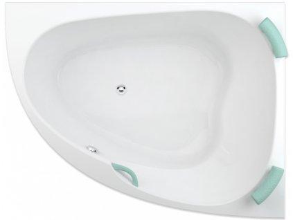 TEIKO Vana Spinell 160 P rohová 160x125 cm, akrylátová, bílá, pravá V110160R04T02001  Nohy zdarma