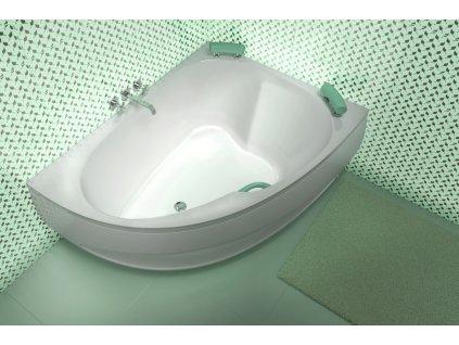 TEIKO Vana Spinell 180 P rohová 180x130 cm, akrylátová, bílá, pravá V110180R04T02001  Nohy zdarma