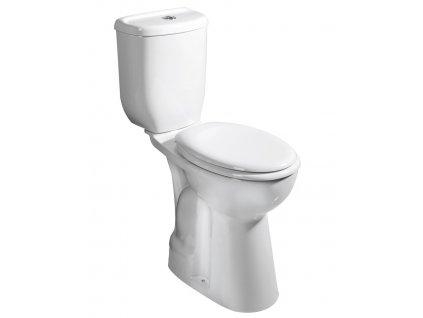 Sapho WC kombi zvýšené 36,3x67,2cm, spodní odpad BD301.410.00