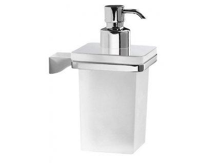 Gedy GLAMOUR dávkovač mýdla, chrom/mléčné sklo 5781