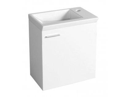Aqualine ZOJA umyvadlová skříňka 44x50x23,5cm, bílá 51046