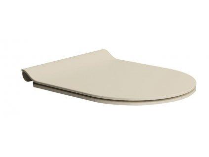 GSI WC sedátko SLIM soft close, duroplast, creta mat/chrom MS86CSN08