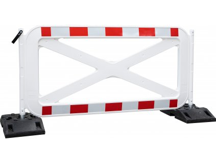 Mobilní bariéra s trubkami bez polepu