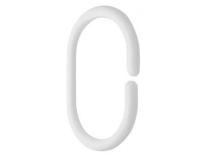 Aqualine Kroužky na sprchový závěs 12 ks, plast, bílá 23036