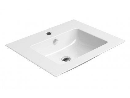 GSI PURA keramické umyvadlo slim 60x50 cm, bílá ExtraGlaze 8836111