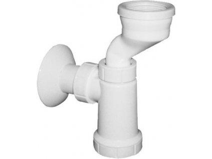Bruckner Sifon pro urinál, manžeta, odpad 40mm, bílá 191.108.0