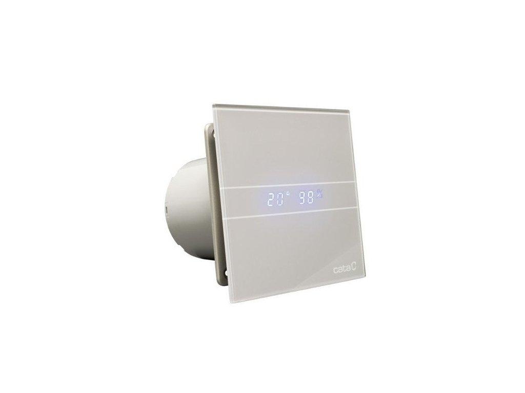 Cata E-100 GSTH kúpeľňový ventilátor axiálny s automatom,4W/8W,potrubie 100mm,striebo 00900600