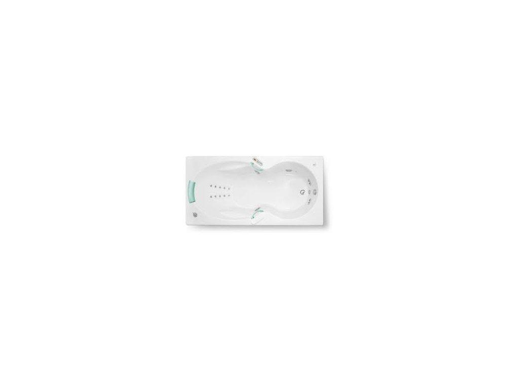 TEIKO Vaňa Apollonia hydromasážní 180 x 90 cm - HTP systém DUO LIGHT V217180N04T03061