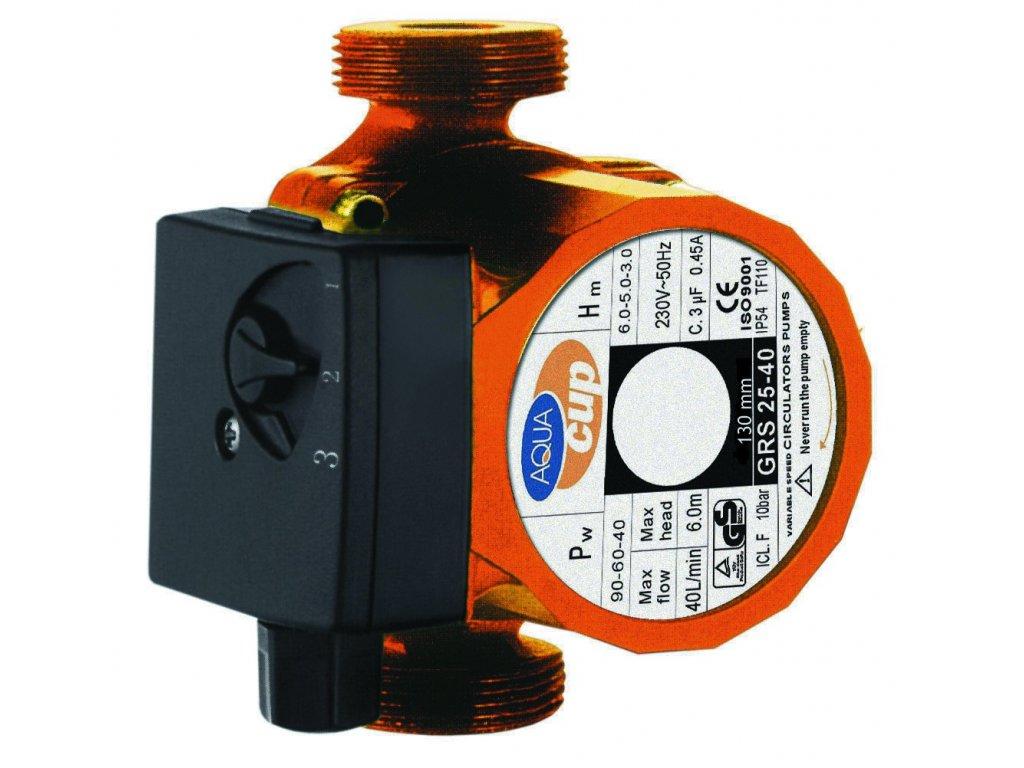 Aquacup Obehové teplovodné čerpadlá GRS 25-40 (130 mm)