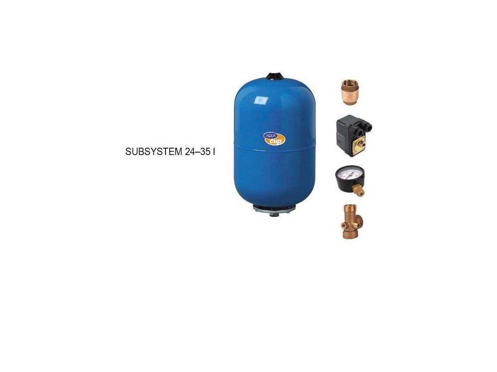 vybavená nádoba pro ponorné čerpadlo 24l