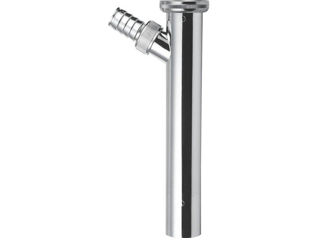 Sapho Predlžovací kus s odbočkou 1'1/4, odpad 32mm, dĺžka 200mm, chróm 0710AR54B7