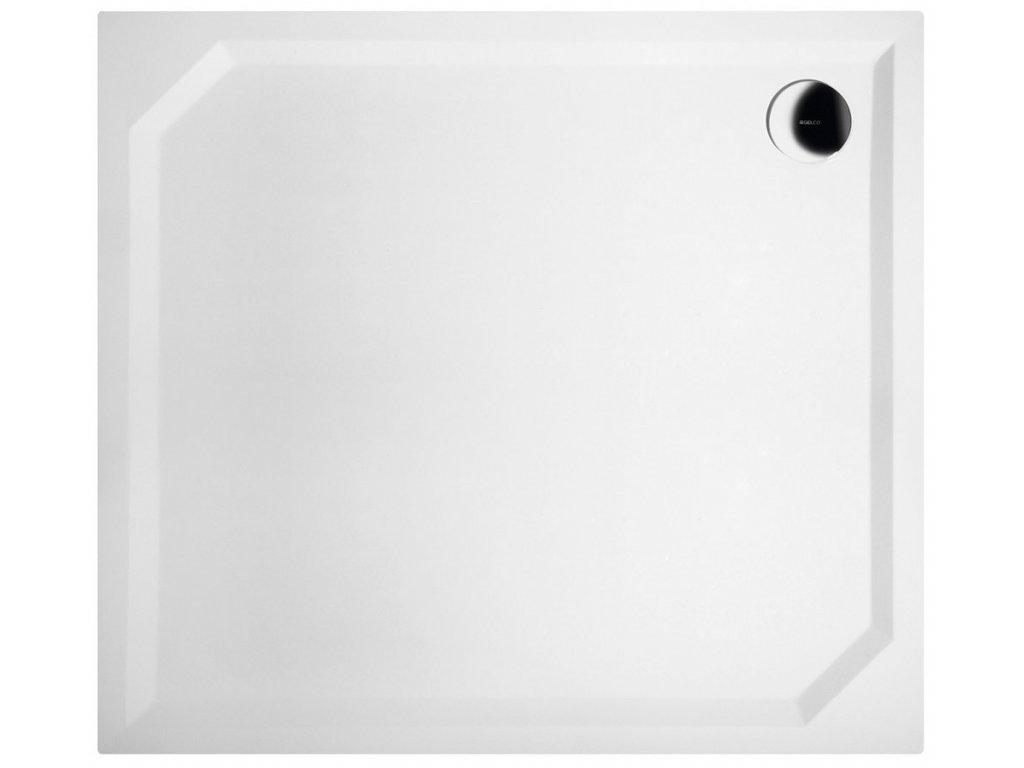 Gelco SARA sprchová vanička z liateho mramoru, obdĺžnik 100x90x4cm, hladká HS10090