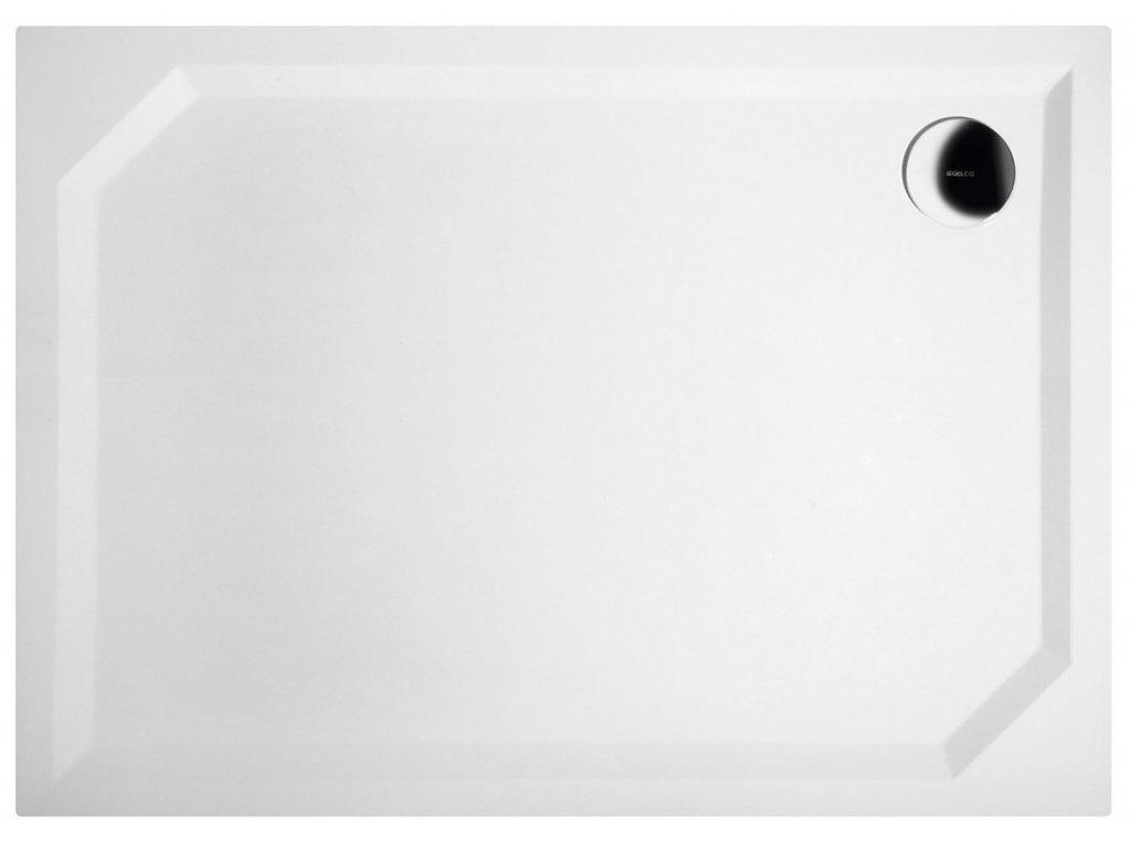 Gelco SARA sprchová vanička z liateho mramoru, obdĺžnik 110x80x4cm, hladká HS11080