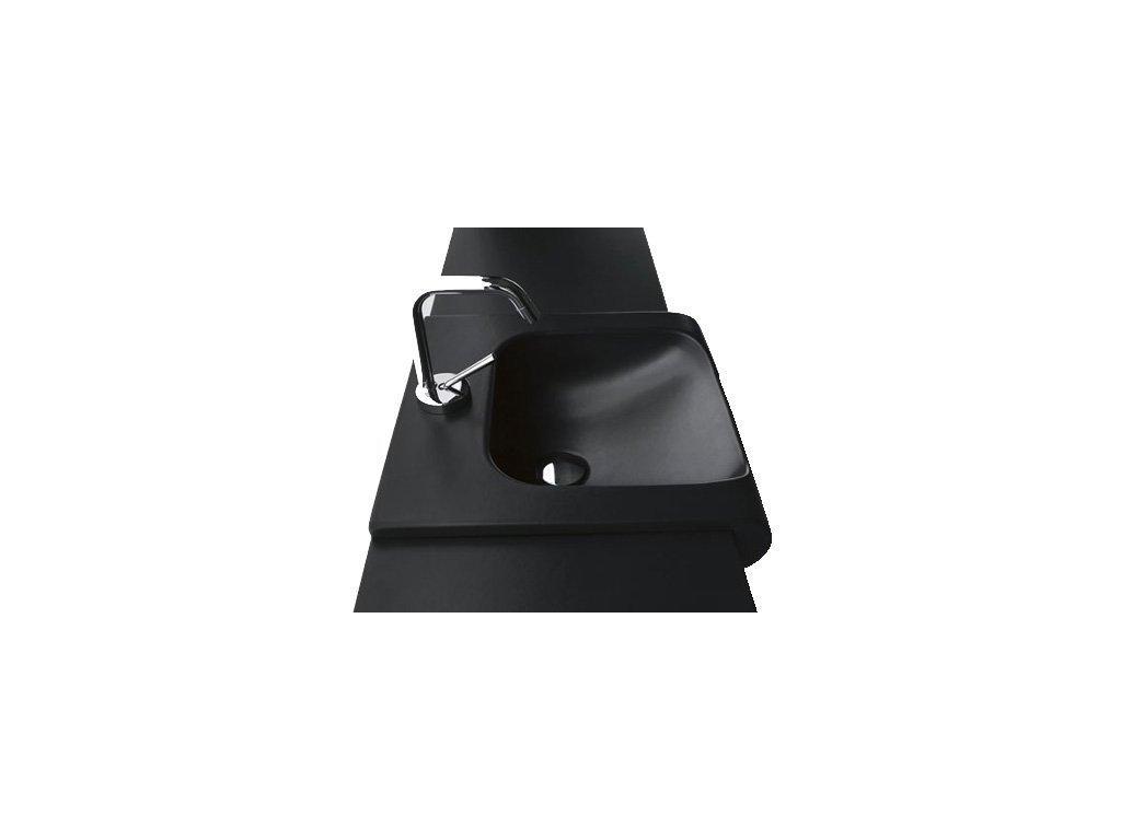 Kerasan INKA keramické umývadlo 40x40cm, čierna mat 341231
