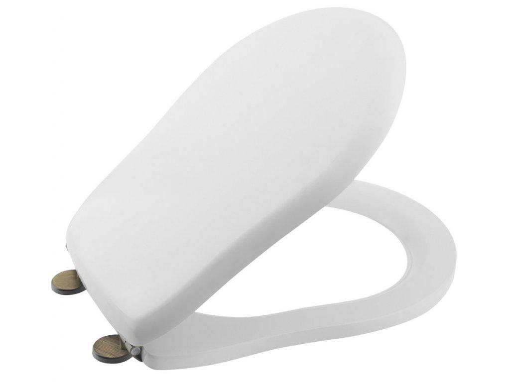 Kerasan RETRO WC sedátko, polyester, biela/bronz 109301