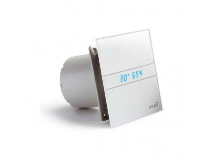 Cata E-120 GTH kúpeľňový ventilátor axiálny s automatom, 6W/11W, potrubie 120mm, biel 00901200