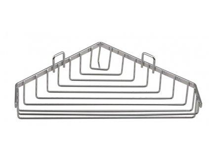 Aqualine Chrom LINE drôtená rohová mydeľnička, chróm 37003