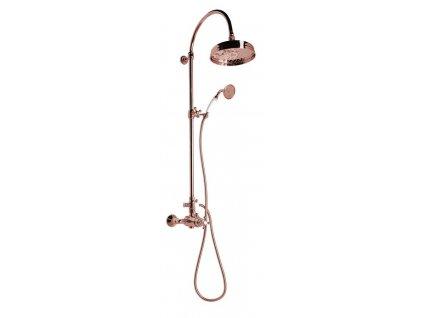 Reitano Rubinetteria ANTEA sprchový stĺp s termostatickou batériou, červené zlato SET047