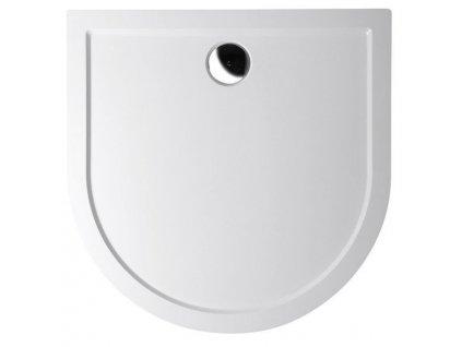Polysan ISA 100 sprchová vanička z liateho mramoru, polkruh 100x100x4cm, biela 72888