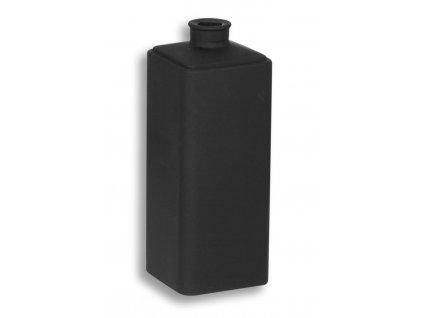 Novaservis Náhradné sklo - dóza na vatové tyčinky čierne sklo matné 6420,5XS