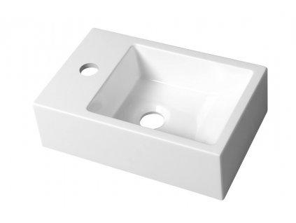 Sapho ALABAMA umývadlo 36x11x23cm, ľavá, liaty mramor, biela AL794