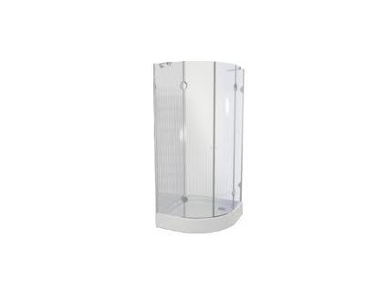 Teiko sprchová zástěna premium PSKKH 2/80 S R55 čiré sklo-pskkh28055
