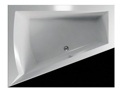 TEIKO Vaňa Galia L rohová 175 x 135 cm, akrylátová, biela, ľavá V110175L04T01001  Nohy zdarma